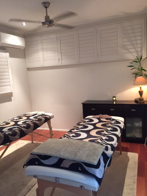 Double bed massage room ...